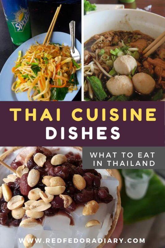 Thai Cuisine dishes