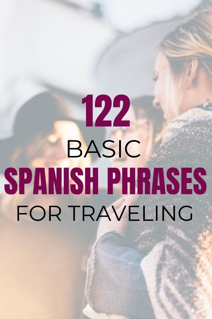 Spanish Phrases for Traveling: Learn Common Spanish Words 1